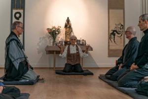 Agetsu Kudo Osho, Leiterin des Zentrums für Zen-Buddhismus