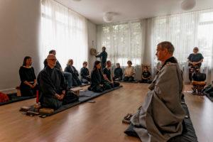 Zen Zeremonie Schlagen des Han
