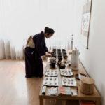 Vorbereitung Japanische Tee-Zeremonie